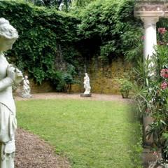 Un diálogo secreto en el jardín: Gimnasios domésticos de estilo  de Decorarconarte.com