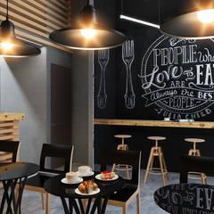 """Дизайн кофейни """"Настроение в каждой чашке"""": Бары и клубы в . Автор – Samarina projects"""