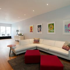 Wandsworth London, Detached House Refurbishment and Design:  Media room by Urban Cape Interiors