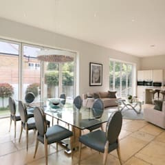 Wandsworth London, Detached House Refurbishment and Design:  Dining room by Urban Cape Interiors