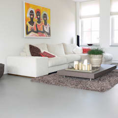 Eclectic style living room by Motion Gietvloeren Eclectic