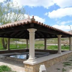Vườn theo CUTECMA Estructuras de madera, Mộc mạc