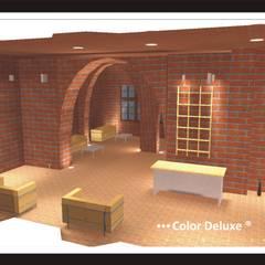 Reforma antiguo molino a Bar de copas.: Salas multimedia de estilo  de COLOR DELUXE