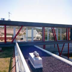 Vivienda unifamiliar en Navàs. Cubierta ajardinada: Casas de estilo minimalista de eidée arquitectes S.L.P.
