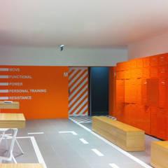 city gym: Ginásios  por Artspazios, arquitectos e designers