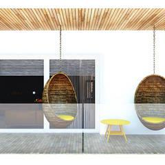 Projekt mieszkania 118m2 w Villa lux w Dąbrowie Górniczej : styl , w kategorii Taras zaprojektowany przez Ale design Grzegorz Grzywacz