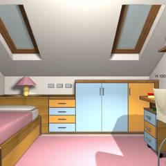 Render totale: Stanza dei bambini in stile  di JP.design