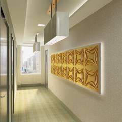Diva Yapı – 3D GOLD PANEL:  tarz Koridor ve Hol, Minimalist