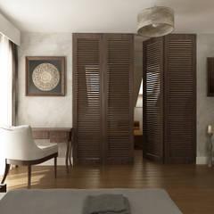 Sypialnia orientalna.: styl , w kategorii Sypialnia zaprojektowany przez CAROLINE'S DESIGN