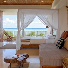tropical Bedroom by Specht Architects