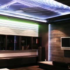 натяжной потолок с печатью и подсветкой:  Вітальня by Атмосфера