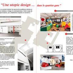 Une utopie design dans le quartier gare de Perpignan : Centre d'expositions de style  par Galerie Clément Cividino Ent.