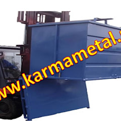 KARMA METAL – KARMA METAL-Açılır tabanlı konteyner Tabanı açılır konteyner kasa: endüstriyel tarz tarz Garaj / Hangar