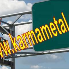 KARMA METAL – KARMA METAL-Reklam Tabela Totem Direği Borusu İmalatı : endüstriyel tarz tarz Garaj / Hangar
