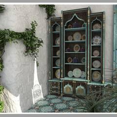 Веранда в марокканском стиле: Tерраса в . Автор – Рязанова Галина