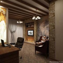 Комната в стиле шале: Рабочие кабинеты в . Автор – Елена Овсянникова