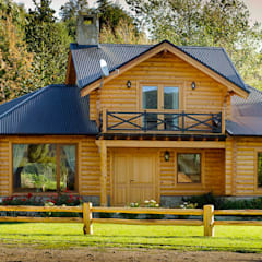 منزل عائلي صغير تنفيذ Patagonia Log Homes - Arquitectos - Neuquén