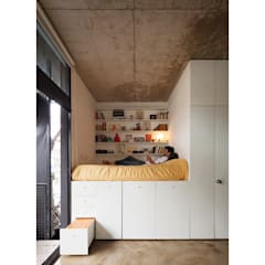 Quintana 4598: Dormitorios de estilo  por IR arquitectura,Moderno Madera Acabado en madera