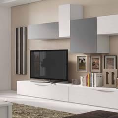 Composición de salón línea moderna: Salones de estilo  de CREA Y DECORA MUEBLES
