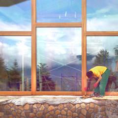 Панорамные окна из дуба: Окна в . Автор – Lesomodul