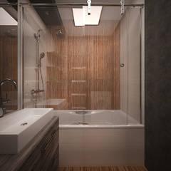 Интерьер 2-комнатной квартиры Новая Москва. Ватутинки: Ванные комнаты в . Автор – дизайн-бюро ARTTUNDRA,