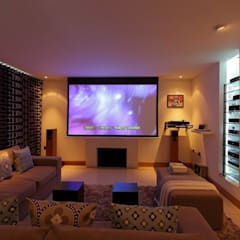 Refurbishment Project West Sussex:  Media room by At No 19