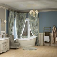Eclectic DesignStudioが手掛けた浴室,
