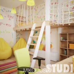 Apartament przy ul. Studenckiej w Krakowie: styl , w kategorii Pokój dziecięcy zaprojektowany przez MIKOŁAJSKAstudio ,