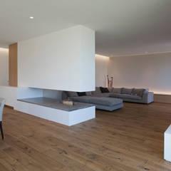 Wohnhaus P. - Oberösterreich: moderne Wohnzimmer von Frohring Ablinger Architekten