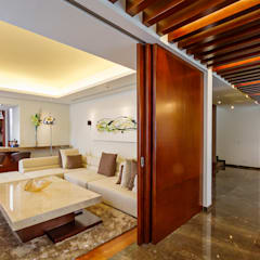 Casa Manantiales: Estudios y oficinas de estilo  por Enrique Cabrera Arquitecto