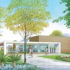 Gimnasios en casa de estilo  por Roncato Paisagismo e Comércio de Plantas Ltda,