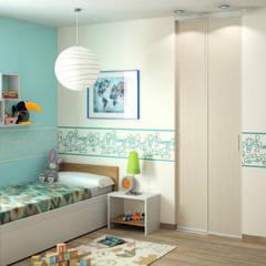 Porte de placard coulissante sur-mesure - Ivoire mat effet laqué: Fenêtres de style  par Centimetre.com