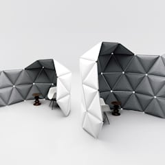 Kivo. Visual space frames with optimized acoustic shielding.:  Messe Design von Alexander Lorenz (FORMKIND GmbH)
