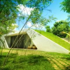 Vista Acceso Principal: Casas de estilo  por sanzpont [arquitectura]
