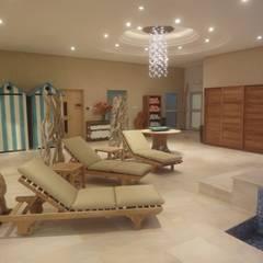 Resort privé: Spa de style de style Moderne par Vincent Bonhomme