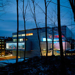Museum by night:  Museums by Brisac Gonzalez Architects