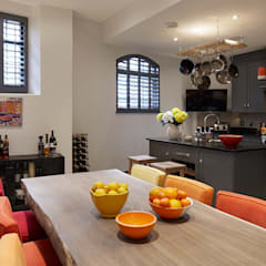 KITCHEN - DINING ROOM :  Dining room by IS AND REN STUDIOS LTD