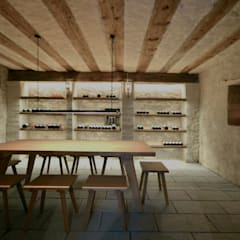 Weinkeller: rustikaler Weinkeller von Dr. Schmitz-Riol Planungsgesellschaft mbH