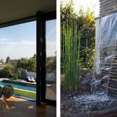 Blick auf den Pool und Wasserfall:  Pool von Dr. Schmitz-Riol Planungsgesellschaft mbH