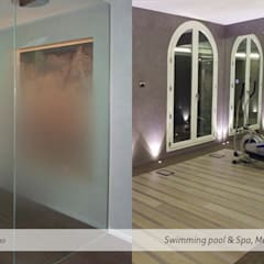 Private Spa and Swimming Pool: Palestra in stile  di A2T