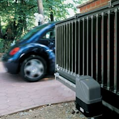Automatic remote controlled steel sliding gates:  Garage/shed by AGD Systems