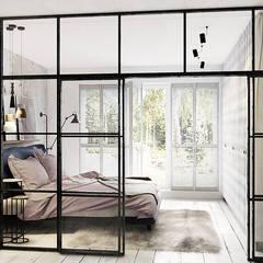 Wrocław / Grabiszynek, apartament 92m2: styl , w kategorii Sypialnia zaprojektowany przez razoo-architekci