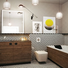 scandinavian Bathroom by razoo-architekci