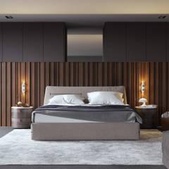 Визуализация интерьера спальни. : Спальни в . Автор – Aleksandra  Kostyuchkova,