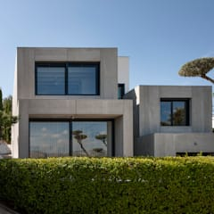 VIsta Fachada Principal 2: Casas de estilo  de ariasrecalde taller de arquitectura