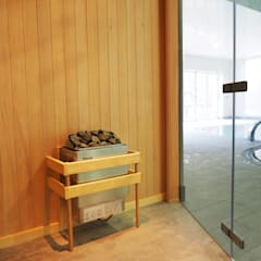 Bespoke Sauna & Steam Room for Pool Area:  Spa by Oceanic Saunas