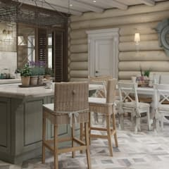 Rustic style dining room by MJMarchdesign Rustic