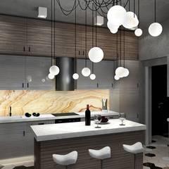 Cocinas de estilo  por Дизайн-студия HOLZLAB