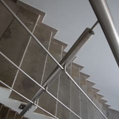 Stainless Steel Balustrade with horizontal rods:  Car Dealerships by Inox City Ltd