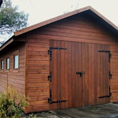 Garaże drewniane : styl , w kategorii Garaż zaprojektowany przez Ogrodolandia